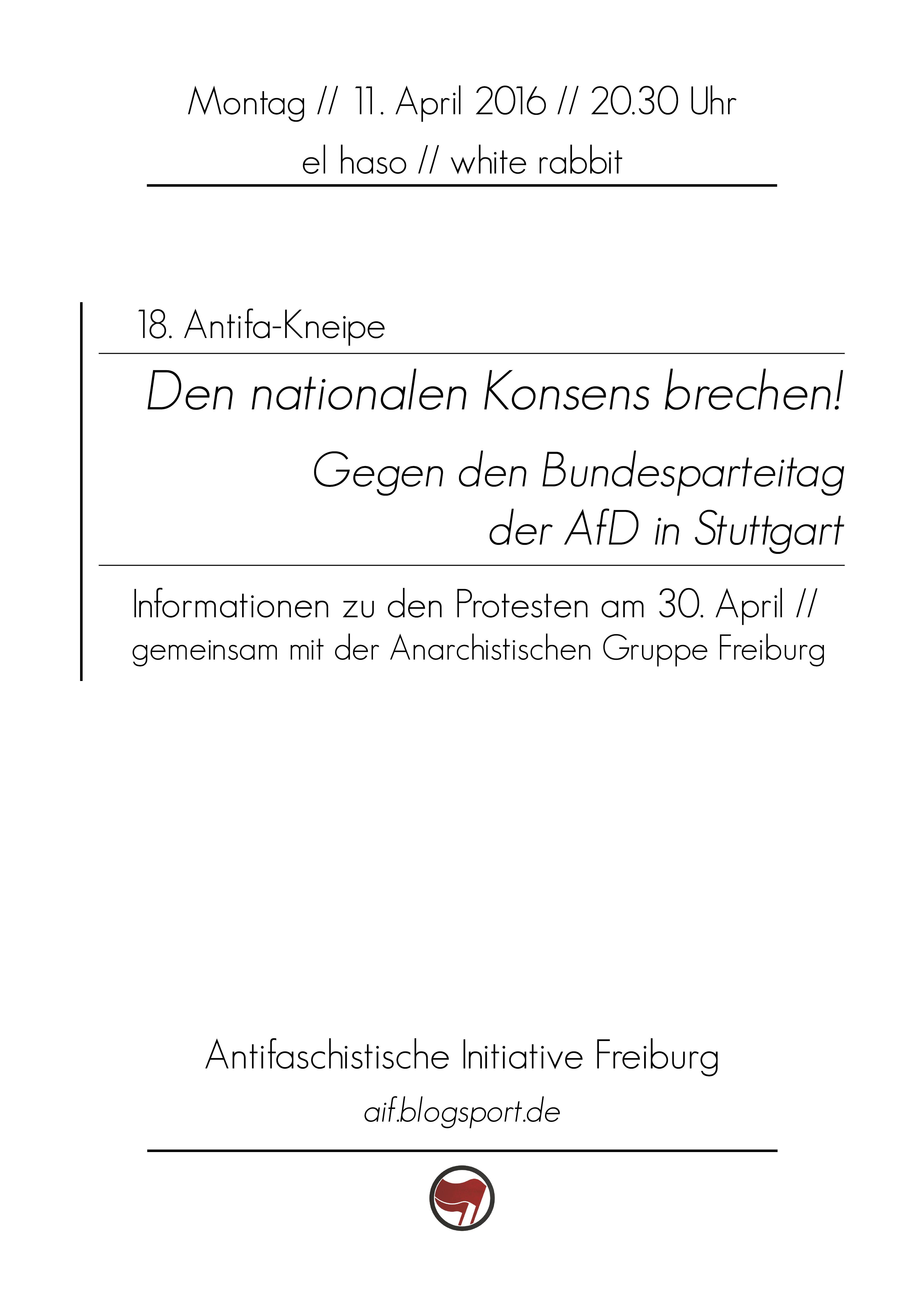 Gegen den Bundesparteitag der AfD!